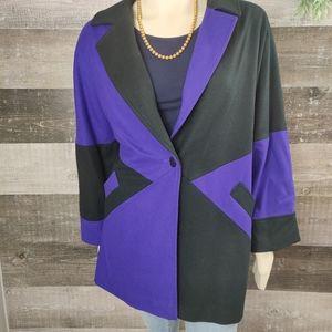 Vintage J.Hillary wool color block coat